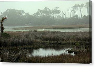 Marsh View At Ocean Course Canvas Print by Rosanne Jordan