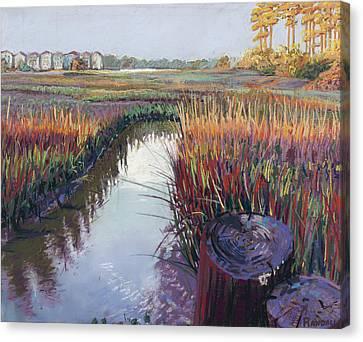 Marsh View Canvas Print by David Randall