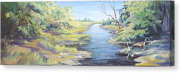 Marsh Waterway Canvas Print