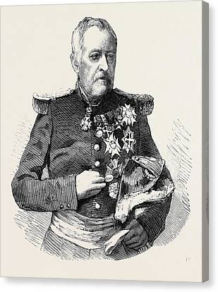Marshal Castellane Commander-in-chief Of The Army Of Lyons Canvas Print by English School