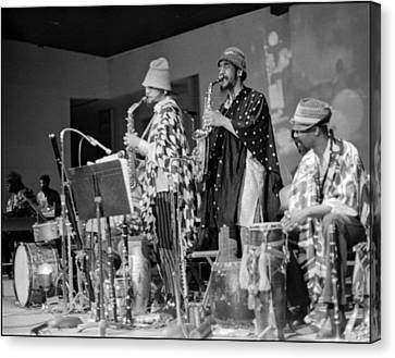 Marshall Allen And Danny Davis Canvas Print by Lee  Santa