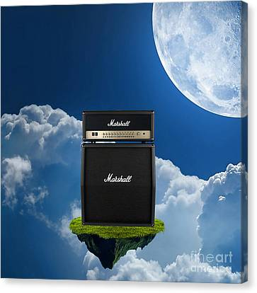 Rock And Roll Canvas Print - Marshall Amplifier by Marvin Blaine
