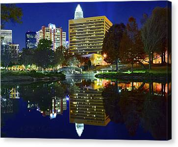 Marshall Park Reflection Canvas Print by Frozen in Time Fine Art Photography