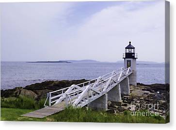 Marshall Point Light 1 Stylized Canvas Print
