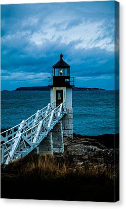 Marshall Point Light At Dusk 1 Canvas Print