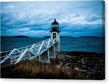 Marshall Point Light At Dusk 2 Canvas Print