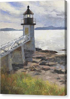 Marshall Point Lighthouse Canvas Print by Anna Rose Bain
