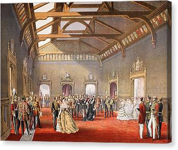 St George Canvas Print - Marshalling The Procession Of The Bride by English School
