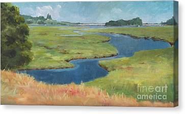Marshes At High Tide Canvas Print
