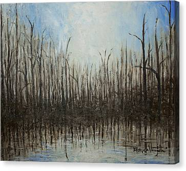 Marshy Parallels Canvas Print by Monica Veraguth