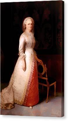 First Lady Canvas Print - Martha Custis Washington by Mountain Dreams
