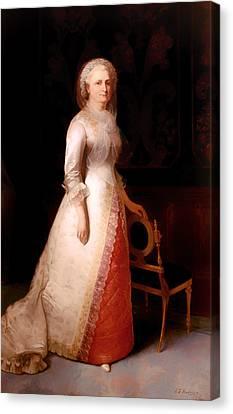 Martha Dandridge Custis Washington Canvas Print by Mountain Dreams