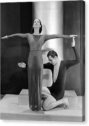 Young Man Canvas Print - Martha Graham Posing With Charles Weidman by Nickolas Muray
