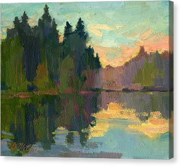 Martha Lake Canvas Print by Diane McClary