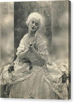 Martha Lorber In Costume For Cosi Fan Tutti Canvas Print