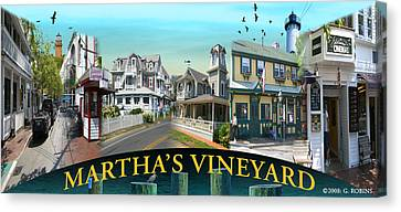 Martha's Vineyard Collage Canvas Print by Gerry Robins