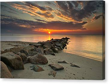 Marthas Vineyard Sunrise Canvas Print by Darylann Leonard Photography