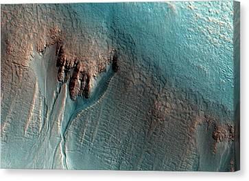 Martian Gullies Canvas Print by Nasa/jpl-caltech/univ. Of Arizona