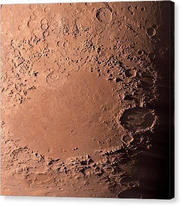 Martian Impact Basin Canvas Print