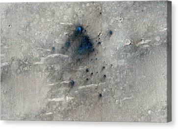 Martian Impact Craters Canvas Print