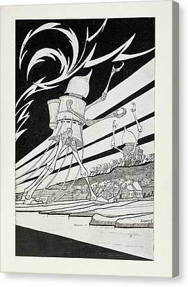 Martian Tripods Canvas Print
