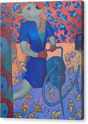 Martillo Neumatico I Canvas Print by Ceri H Pritchard