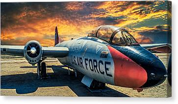 Canvas Print featuring the photograph Martin B-57 by Steve Benefiel