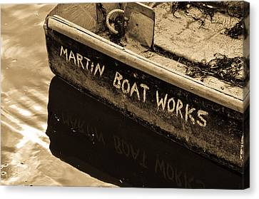 Martin Boat Works Canvas Print by Mike Martin