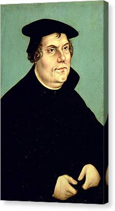 Martin Luther Canvas Print by Lucas the Elder Cranach