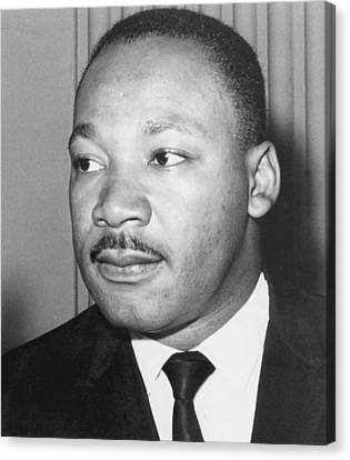 Martin Luther King Jr 1929-68 American Black Civil Rights Campaigner Canvas Print by Anonymous