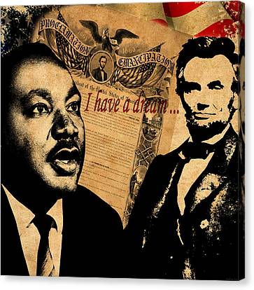 Martin Luther King Jr 2 Canvas Print by Andrew Fare