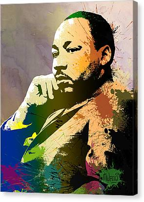 Martin Luther King Jr.  Canvas Print by Anthony Mwangi
