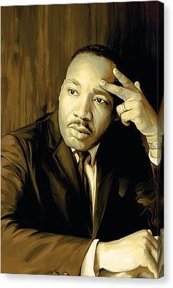 Martin Luther King Jr Artwork Canvas Print by Sheraz A