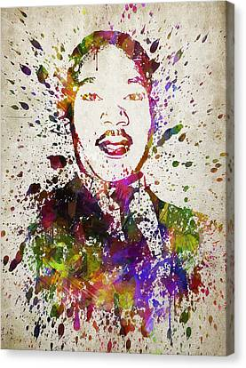Martin Luther King Jr In Color Canvas Print by Aged Pixel