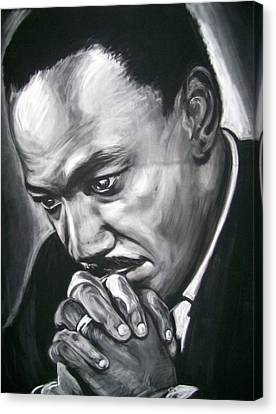 Martin Luther King Jr Canvas Print by Martha Suhocke
