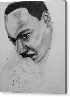 Canvas Print featuring the drawing Martin Luther King Jr. Mlk Jr. by Michael Cross