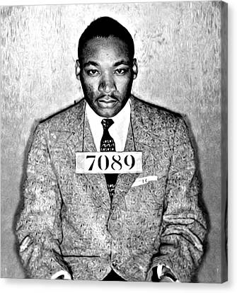 Martin Luther King Mugshot Canvas Print by Bill Cannon