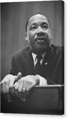 Martin Luther King Press Conference 1964 Canvas Print by Anonymous