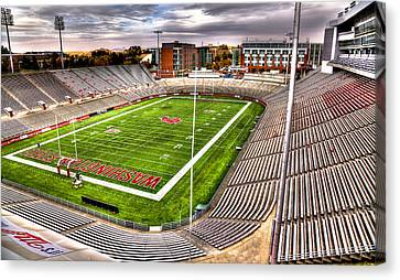 Martin Stadium At Washington State Canvas Print by David Patterson