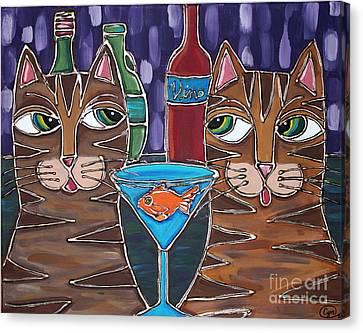 Martini At Cat Bar Canvas Print