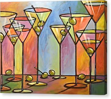 Martini Bar ... Abstract Alcohol Art Canvas Print by Amy Giacomelli