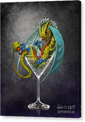 Drink Canvas Print - Martini Dragon by Stanley Morrison