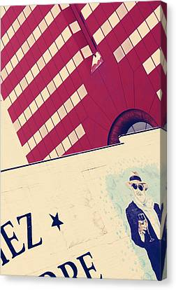 Martini Kiss Canvas Print by Empty Wall