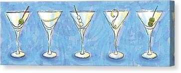Martini Lunch Canvas Print