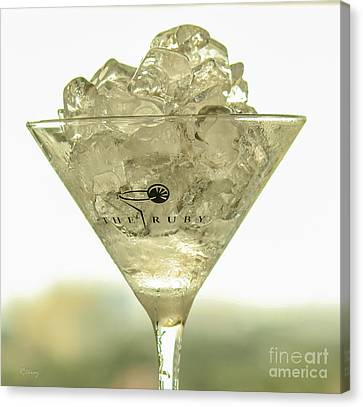 Martini On The Rocks Canvas Print by Rene Triay Photography