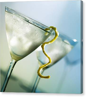 Martini With Lemon Peel Canvas Print
