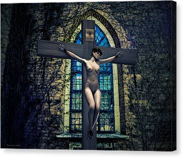 Martyr Canvas Print - Martyr Of The Curch II by Ramon Martinez