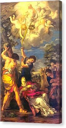Martyrdom Of Saint Stephen Canvas Print by Pietro da Cortona