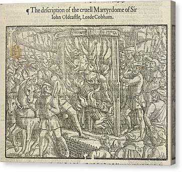 Martyrdom Of Sir John Oldcastle Canvas Print by British Library
