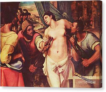 251 Canvas Print - Martyrdom Of St Agatha by Pg Reproductions